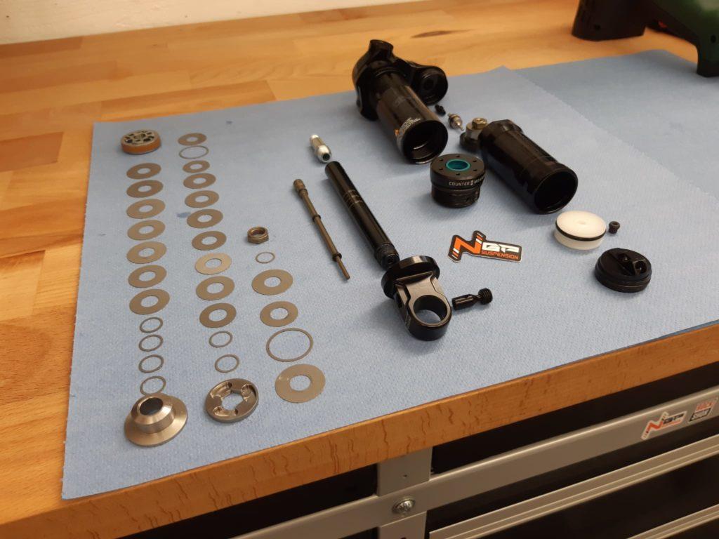 Préparation re-valving amortisseur VTT